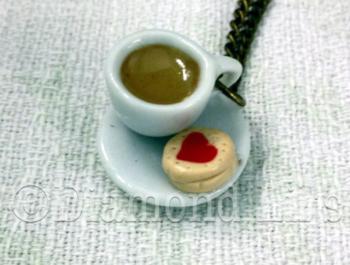 Tea & Biscuit Necklace