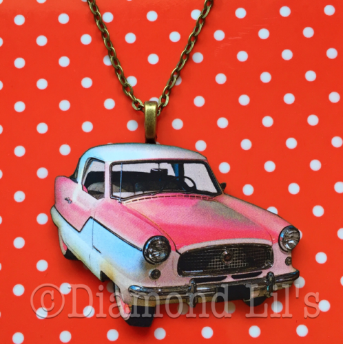 Wooden Classic Car Necklace (#1)
