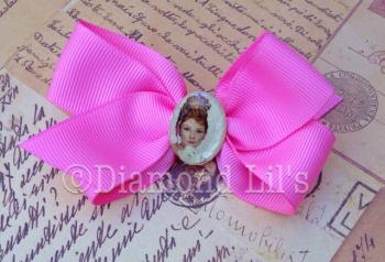 Audrey Hepburn Cameo Hair Clip (Pink)