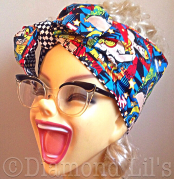 Wonder Woman Reversible Head Scarf / Hair Tie