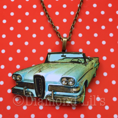 Wooden Classic Car Necklace (#2)