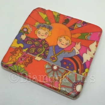 Psychedelic Tile Coaster