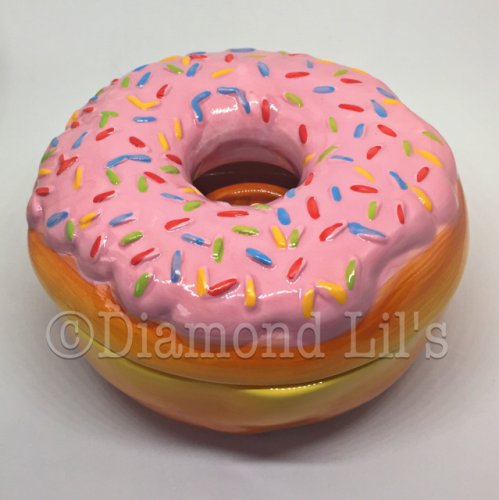 Ceramic Doughnut Trinket Pot