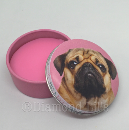 Pug Lip Balm Tin (Strawberry)