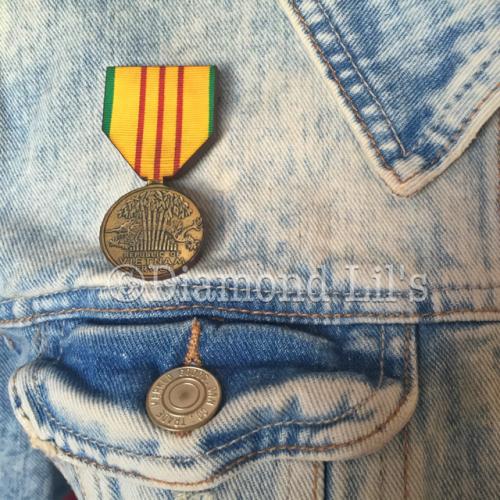 Wooden Medal Brooch (#2)