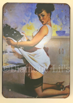 Pin-Up Girl Metal Sign (#4)