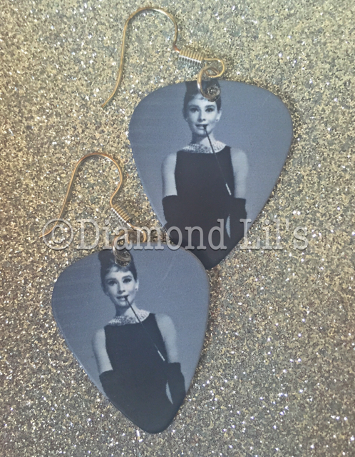 Audrey Hepburn Plectrum Earrings