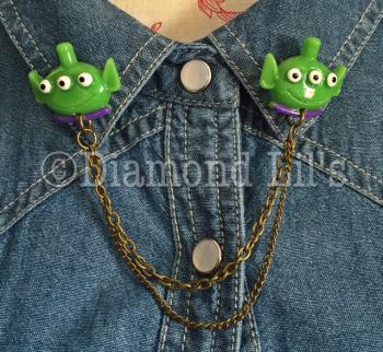 Alien Collar/Cardigan Pins