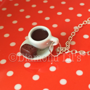 Coffee & Biscuit Necklace