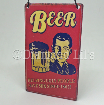 Beer Mini Metal Sign
