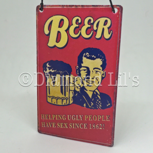 Beer Mini Metal Sign