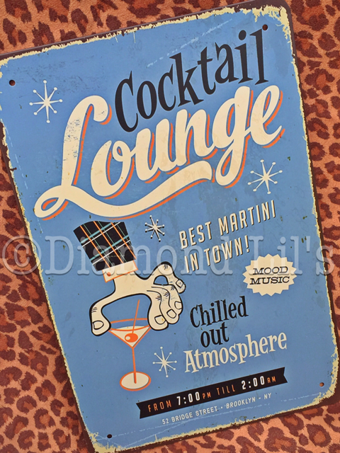 Cocktail Lounge Metal Sign