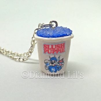 Slush Puppie Necklace (Blue Raspberry)