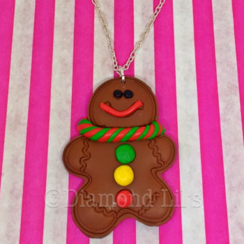 Large Gingerbread Man Necklace