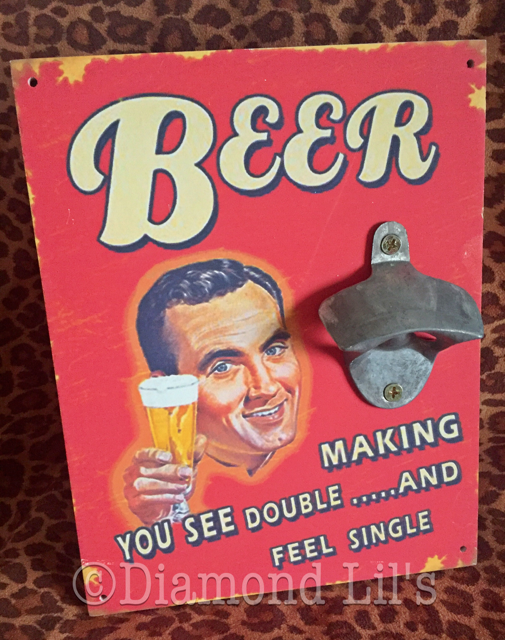 Retro Bottle Opener Sign