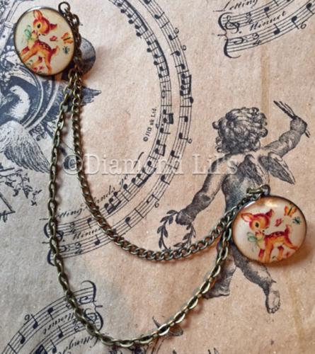 Vintage Deer Image Collar/Cardigan Pins