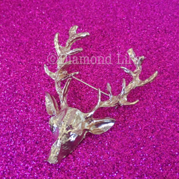 Stag Brooch (Gold)