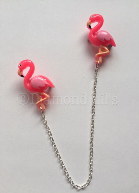Flamingo Collar/Cardigan Pins