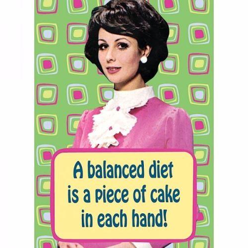 'A Balanced Diet...' Magnet