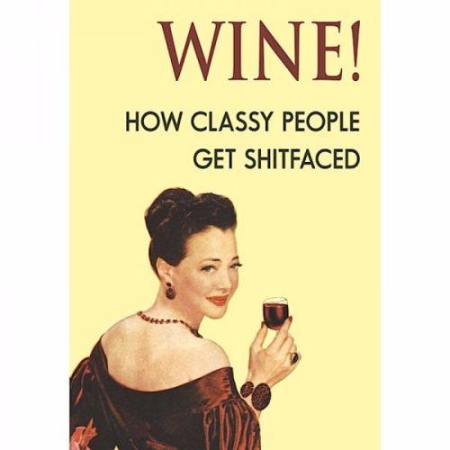 Wine! Greeting Card
