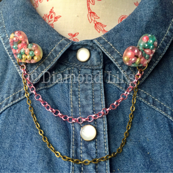 Love Heart & Pearl Collar/Cardigan Pins