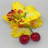Handmade Hair Flower With Cherries