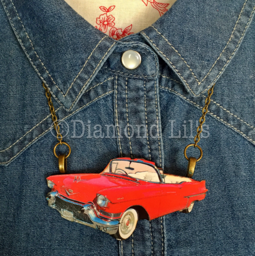 Large Classic Car Necklace
