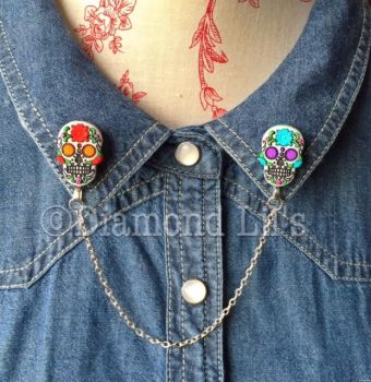 Day Of The Dead Collar/Cardigan Pins