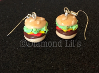Burger Earrings