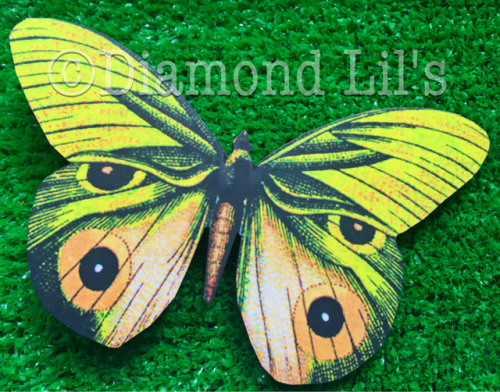 Oversized Butterfly Hair Clip (Yellow)