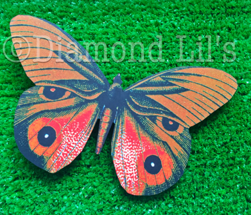 Oversized Butterfly Hair Clip (Orange/Red)