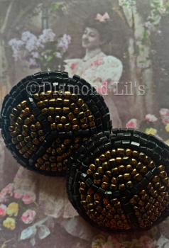 Oversized Beaded Clip On Earrings