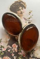 Amber Effect Clip On Earrings