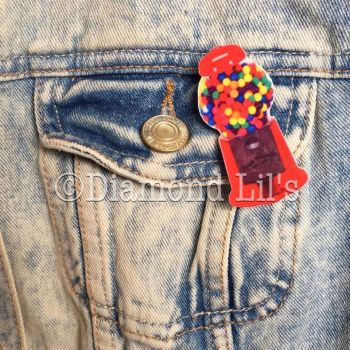 Gumball Machine Brooch