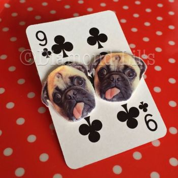 Franklin Pug Earrings