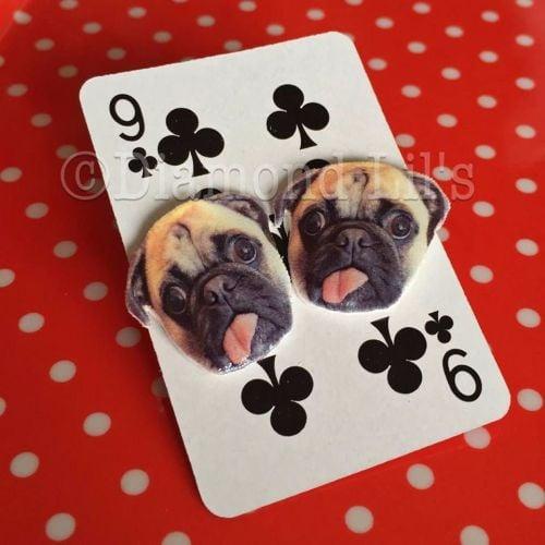 Franklin Pug Earrings