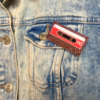 Retro Cassette Tape Brooch