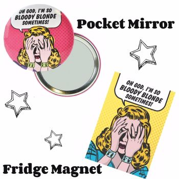 """Oh God..."" Pocket Mirror & Magnet Set"