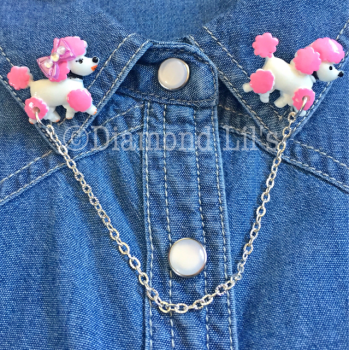 Pauline & Peter Poodle Collar/Cardigan Pins