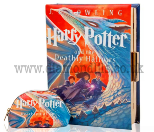 Harry Potter Book Bag & Matching Purse (Deathly Hallows)