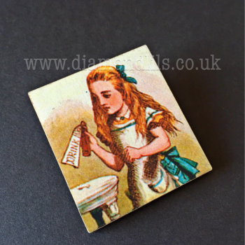 Alice In Wonderland Scene Brooch