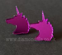 Purple Unicorn Earrings