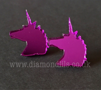 Purple Unicorn Earrings