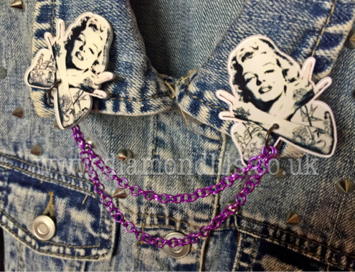 Bad Ass Marilyn Collar/Cardigan Pins