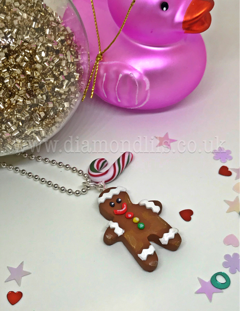 Gordon The Gingerbread Man Necklace