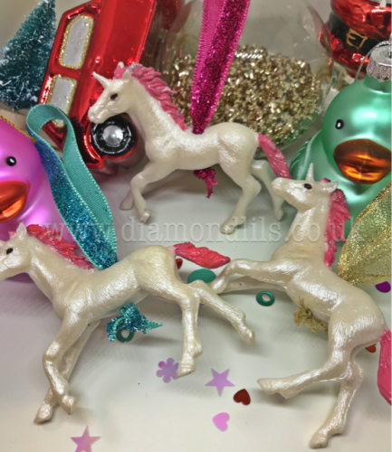 Mystical Unicorn Set Of 3 Hanging Tree Decorations