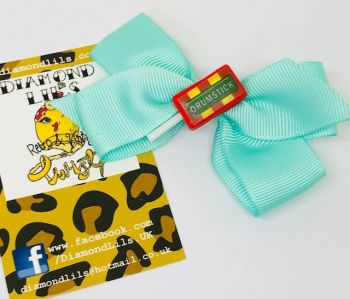 Drumstick Lolly Bow Hair Clip