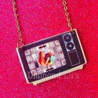 Retro Television Necklace