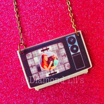Retro Television Necklace