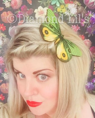 Oversized Butterfly Hair Clip (Yellow/Green)